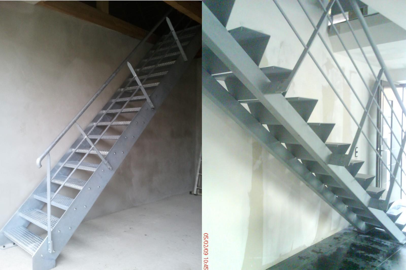 Escalier droit for Type d escalier interieur